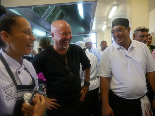 2nd Pacific Agribusiness Forum - Day 1 Chef Robert Oliver during the field visit at the Australia-Pacific Technical College (APTC)