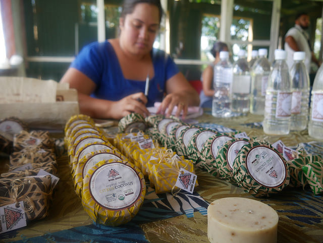 2nd Pacific Agribusiness Forum - Day 1  Coconut-based products of the Women in Business Development Inc (WIBDI).